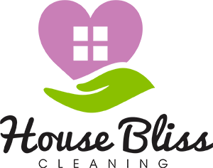 House Bliss Cleaning logo representing a hand holding a home