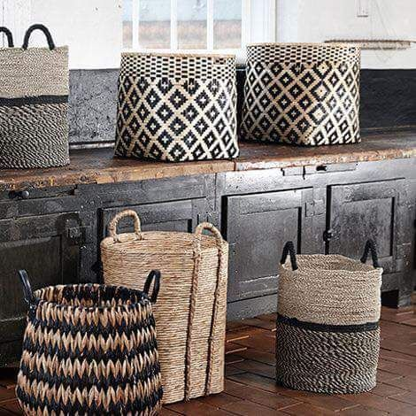 handmade storage baskets for decluttering